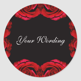 Red roses romantic sticker (customise wording)
