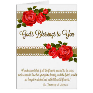 Red Roses Spiritual Bouquet Card w/scripture