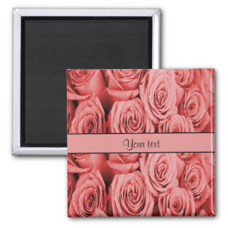 Red Roses Square Magnet