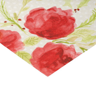 Red Roses Tissue Paper