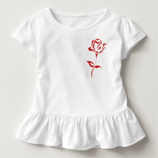 Red roses toddler t-shirt