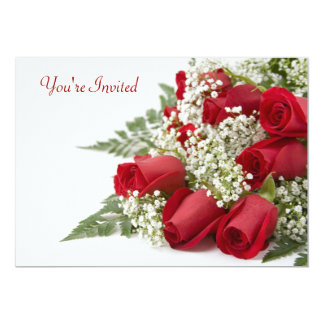 Red Roses Valentine's Day Party Invitation