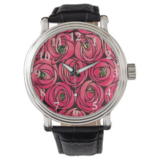 Red Roses Vintage Art Nouveau Watch