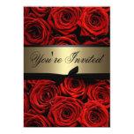 "Red Roses Wedding 5"" X 7"" Invitation Card"