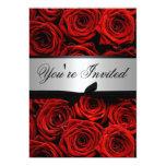 Red Roses Wedding Custom Invitations
