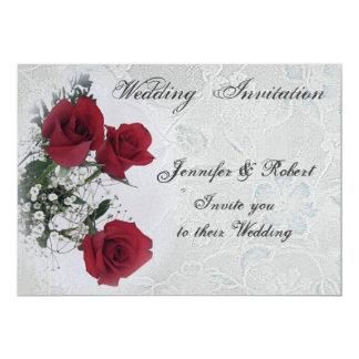 Red Roses  Wedding  Invitation