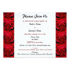 red roses wedding invitations - customizable