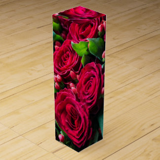Red roses wine box
