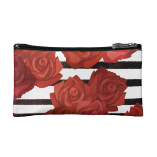 Red Rosy Style Makeup Bag