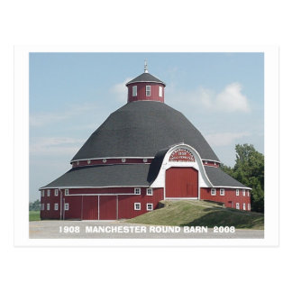 Red ROUND BARN card