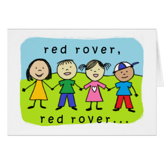 Red rover 40th birthday card
