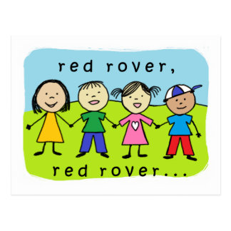 Red rover kids postcard