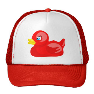 Red Rubber Duck Hats