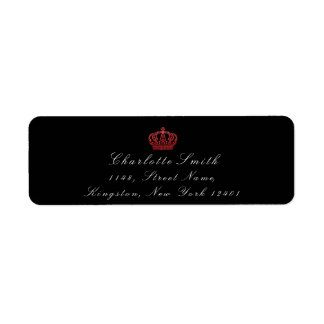 Red Ruby Glitter RSVP Crown Princess Bridal Black