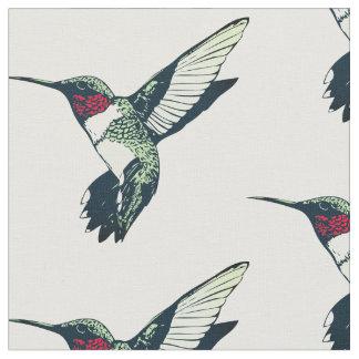 Red ruby throated hummingbird Fabric
