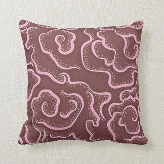 Red Ruffles Throw Pillow