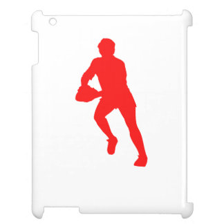 Red Rugby Player Silhouette Cover For The iPad