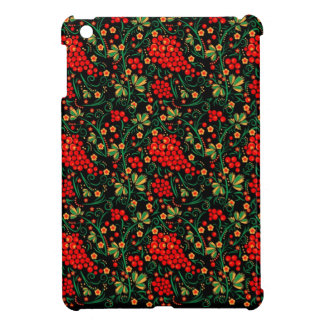 Red Russian Khokhloma Design Mobile Accessories Cover For The iPad Mini
