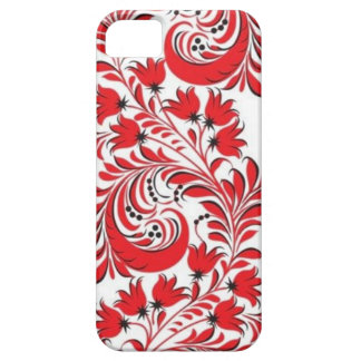 Red Russian Khokhloma iPhone 5 Cases