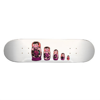 Red Russian Nesting Dolls Skate Board Deck