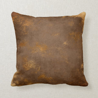 Red Rust Distressed Grungy Maroon Gold Sepia Throw Pillow