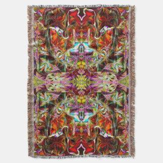 Red Sacred Bridge Yoga Blanket by Deprise Throw Blanket