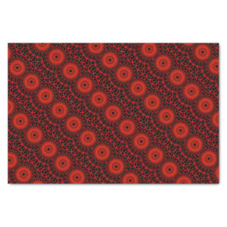Red Sacred Geometry Tissue Paper