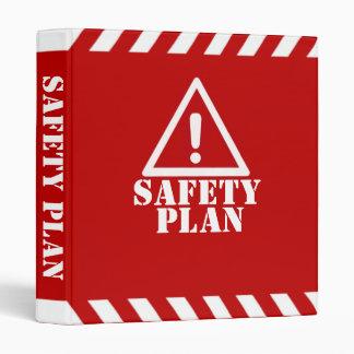 Red Safety Plan Binder