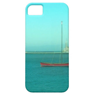 Red Sail Boat Blue Skies Case For The iPhone 5