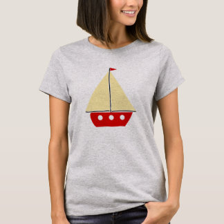 Red sail boat T-Shirt