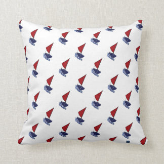 Red Sail Boat Throw Pillow