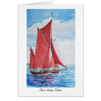 Red Sailed Ketch: Card