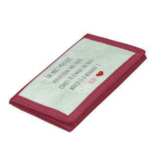 Red Saint Valentine's Day Trifold Wallet