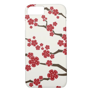 Red Sakura Cherry Blossom Flowers iPhone 7 Case