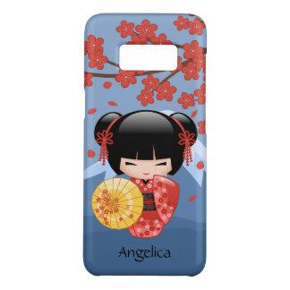 Red Sakura Kokeshi Doll - Cute Geisha Girl Case-Mate Samsung Galaxy S8 Case