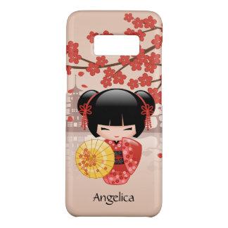 Red Sakura Kokeshi Doll - Japanese Geisha Case-Mate Samsung Galaxy S8 Case