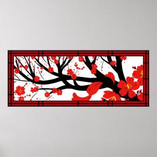 Red Sakura Poster
