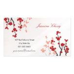 Red Sakuras Cherry Blossoms Oriental Zen Asian