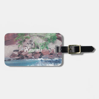 Red Sand Beach Luggage Tag