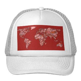Red sandy atlas trucker hat