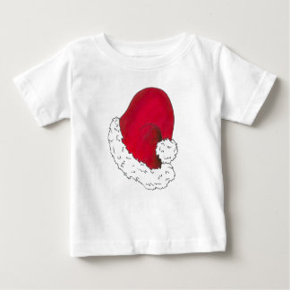 Red Santa Claus Hat Merry Christmas Xmas Holiday Baby T-Shirt