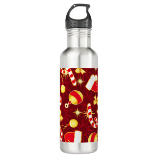 Red - Santa's cap 710 Ml Water Bottle
