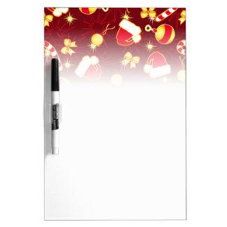 Red - Santa's cap Dry Erase Board