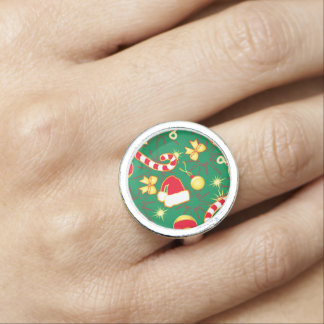 Red - Santa's cap Ring