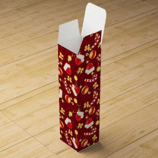 Red - Santa's cap Wine Gift Box