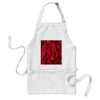 red satin-green heart standard apron
