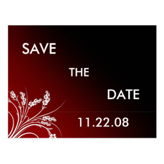 Red Save the Date Postcard