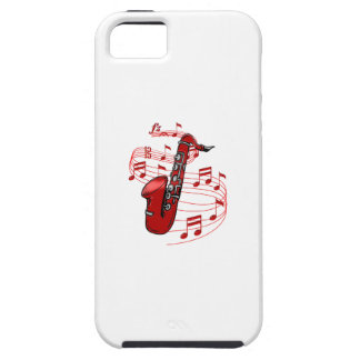 Red Sax With Music Notes iPhone 5 Cover