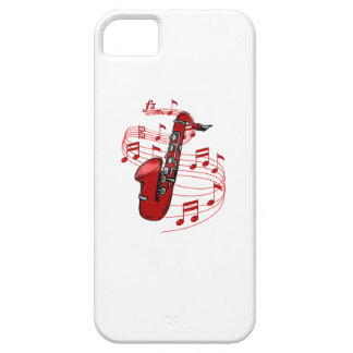 Red Sax With Music Notes iPhone 5 Covers