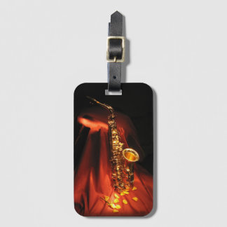 Red Saxophone Luggage Tag